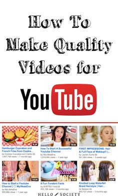 How To Make Quality Videos For YouTube - @hellosociety