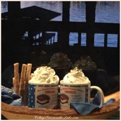 #CottageGreenontheLake.com ... #lakeside #hot chocolate #twilight #lake #sunset #winter