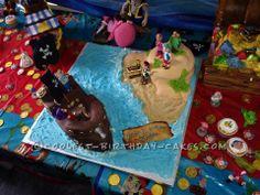 Jake and the Neverland Pirates Birthday Cake... This website is the Pinterest of birthday cake ideas #voteforthiscakebyJackiSands