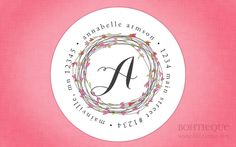 Custom Return Address Sticker Labels--Valentine Wreath by Bohtieque on Etsy https://www.etsy.com/listing/118864888/custom-return-address-sticker-labels