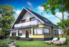 TQR-933: Ciekawy układ funkcjonalny domu, ponad 160m², 4 sypialnie z balkonem, 3 łaz. Zobaczcie rzuty projektu!