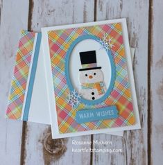 Picture Book Snowman for Challenge - Heartfelt Stamping Christmas Snowman, Winter Christmas, Handmade Christmas, Christmas 2019, Christmas Card Template, Christmas Cards, Snowman Cards, Winter Cards, Creative Cards