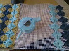 Discover thousands of images about diy rug Plastic Canvas Stitches, Plastic Canvas Crafts, Plastic Canvas Patterns, Embroidery Patterns Free, Hand Embroidery Stitches, Cross Stitch Embroidery, Broderie Bargello, Needlepoint Stitches, Fabric Yarn
