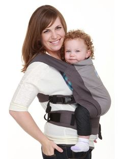 NEW Moby GO, an amazingly comfortable soft-structured baby carrier. Perfect for babies 15 - 45 lbs. $79.95