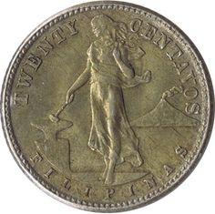 Moneda de plata 20 centavos Filipinas 1944., Tienda Numismatica y Filatelia Lopez, compra venta de monedas oro y plata, sellos españa, accesorios Leuchtturm