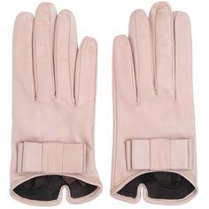 MARIO PORTOLANO Nappa Leather Gloves With Bow - Light Pink