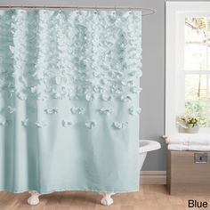 Add some texture to your bathroom with this stunningly unique shower curtain.