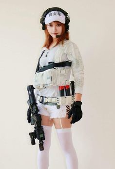 Wilderness Tips And Strategies For Food Cosplay Outfits, Cosplay Girls, Gunslinger Girl, Cyberpunk Girl, Female Fighter, Military Girl, Hot Teens, Female Soldier, Asian Girl