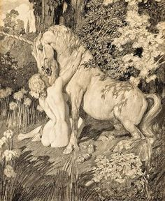 Norman Lindsay - I have a framed print of this and love it. Norman is my favourite artist and we were married in his gardens with his statues as onlookers.