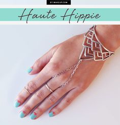 We love some DIY nail art, and we love it even more when we can match it up with some cute bracelets or knuckle rings! Kait Mosh worked her manicure magic and we paired them with some matching jewelry!