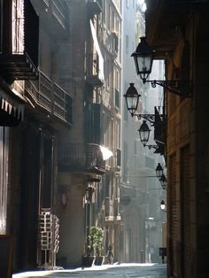 bluepueblo:      Lanterns, Barcelona, Spain   photo via supersecretninjamoves