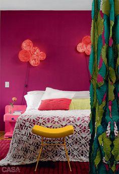 bright purple bedroom #decor #bedroom