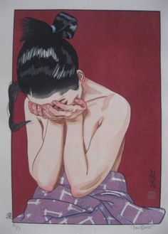 artwork by Paul Binnie at Scholten Japanese Art entitled Tears Art And Illustration, Illustrations, Botanical Illustration, Kunst Inspo, Art Inspo, Anime Kunst, Anime Art, Japanese Art Prints, Arte Van Gogh