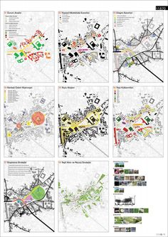 Series of smaller maps to show analysis like - ethnicities, building heights, types of spaces that exist, public/private Site Analysis Architecture, Architecture Mapping, Architecture Graphics, Concept Architecture, Landscape Architecture, Architecture Diagrams, Architecture Portfolio, Urban Design Diagram, Urban Design Plan