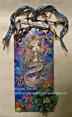 Dragon Wings And Fairy Things: Morticia Siren-DT card for The Corrosive Challenge Blog