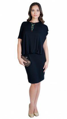f4f5258f3 AMAYA ARZUAGA - Vestido corto negro drapeado