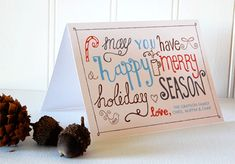 Printable Christmas card and gift list | How About Orange
