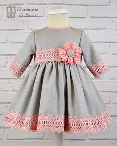 Baby Girl Dress Patterns, Little Dresses, Little Girl Dresses, Girls Dresses, Dresses Dresses, Fashion Dresses, Toddler Dress, Toddler Outfits, Kids Outfits