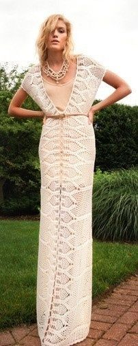 Full-length knitted gowns, and many other items unusual to knit.