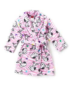 Look what I found on #zulily! Peanuts Snoopy Robe - Toddler & Girls #zulilyfinds
