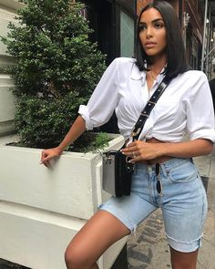 20 Cut off Jean Shorts Outfits - Outfit Trends - Jean Short Outfits, Trendy Outfits, Cool Outfits, Fashion Outfits, Night Outfits, Classic Outfits, Fashion Mode, Look Fashion, Street Fashion