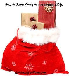 How to save money on Christmas gifts! #Giveaways4Mom