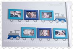 PaperCuts: Trains, Planes and Automobile Nursery Picture Frame Train Vinyl