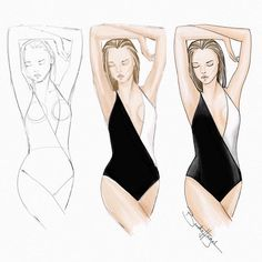 And so it begins, steps 1 and Fashion Figure Drawing, Fashion Drawing Dresses, Fashion Model Sketch, Fashion Sketches, Fashion Design Template, Fashion Templates, Croquis Fashion, Fashion Illustration Sketches, Dress Sketches