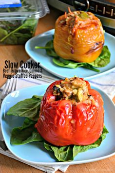 Make my healthy slow cooker dinner recipe: Slow Cooker Beef, Brown Rice, Quinoa and Veggie Stuffed Peppers Healthy Slow Cooker, Best Slow Cooker, Slow Cooker Beef, Slow Cooker Recipes, Crockpot Recipes, Cooking Recipes, Veggie Stuffed Peppers, Slow Cooker Stuffed Peppers, Tortillas
