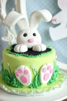 Ostertorten grüne torte osterhase blumen (Easter Bake Ideas)