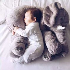 Soft & Cuddly Elephant Sleeping Pillows for Toddlers