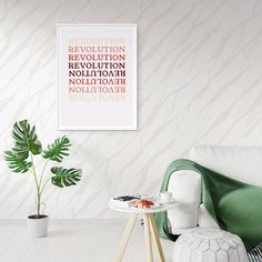 REVOLUTION Printable Wall Art Feminist Art Print Protest | Little Gold Pixel Printing Services, Online Printing, California Decor, Protest Posters, Mid Century Modern Decor, Feminist Art, Ship Art, Eclectic Decor, Wall Colors