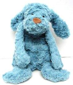Jellycat Charmed Dante Dog Plush Soft Teal Blue Beanie Stuffed Puppy 15 Inch #Jellycat