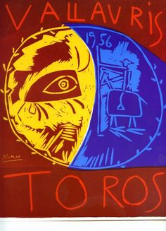 """By pablo Picasso, 1 9 5 6, """"Vallauris Toro""""."""
