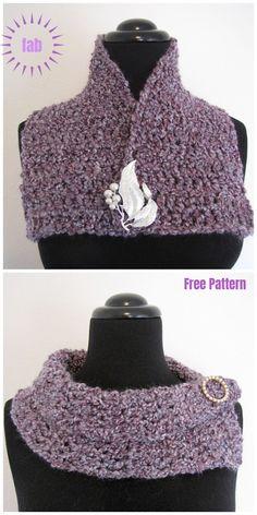 Crochet Beanie Patterns Super Quick and Easy Scarflette Free Crochet Pattern - Super Quick and Easy Scarflette Free Crochet Pattern Quick Crochet, Knit Or Crochet, Crochet Scarves, Crochet Crafts, Crochet Clothes, Crochet Vests, Crochet Cape, Crochet Shirt, Crochet Tutorials