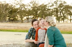 Family down by the pond - Redding CA Newborn Photographer - Dani D Photography