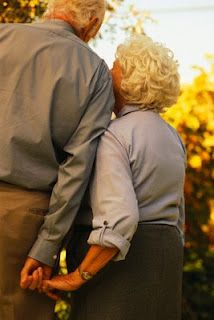 I love seeing older couples happy and still madly in love with each other.