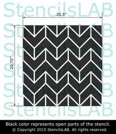 50% Sale Wall Stencil Chevron Pattern Stencil by StencilsLabNY