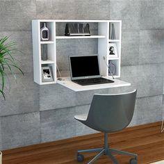 Omega Wall Desk, White
