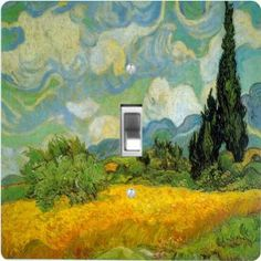 "Rikki KnightTM Van Gogh Art Cypresses - Single Toggle Light Switch Cover by Rikki Knight. $13.99. The Van Gogh Art Cypresses single toggle light switch cover is made of commercial vibrant quality masonite Hardboard that is cut into 5"" Square with 1'8"" thick material. The Beautiful Art Photo Reproduction is printed directly into the switch plate and not decoupaged which make these Light Switch Plates suitable for use in any room in the office, home, etc. etc.. T..."