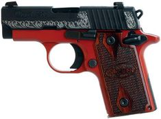 SIG Sauer P238 .380 LADY IN RED. Planning to trade my Ruger .380 LCP with laser max toward it. May even trade my Taurus pt25 toward it too.