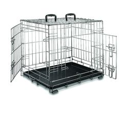 Premium Stainless Steel Metal Folding Double-Door Dog Crate Weather-proof Portable Pet Kennel ** See this great image  : Dog crates