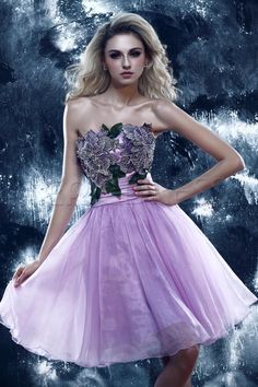 Pretty A-Line Short/Mini-Length Stapless Dasha's Prom Sweet 16 Dress Junior Prom Dresses- ericdress.com 10169577
