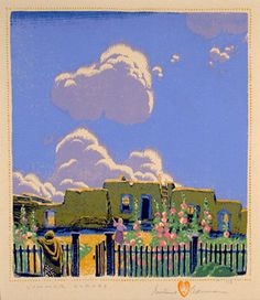 Summer Clouds / Gustave Baumann / 1925 / color woodcut