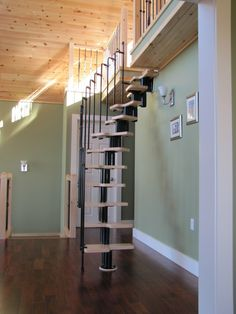 metal steel and wood spiral staircase fontanot