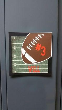 Football locker decoration