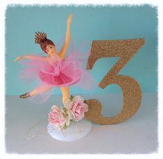 Birthday Decoration Vintage Ballerina Cake Topper by JeanKnee