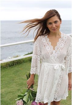 606d17d60e lace bridal robe - perfect for bridal boudoir and day of the wedding Lace Bridal  Robe