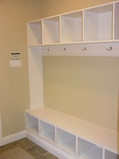 Mudroom. Like the trim along the bottom.