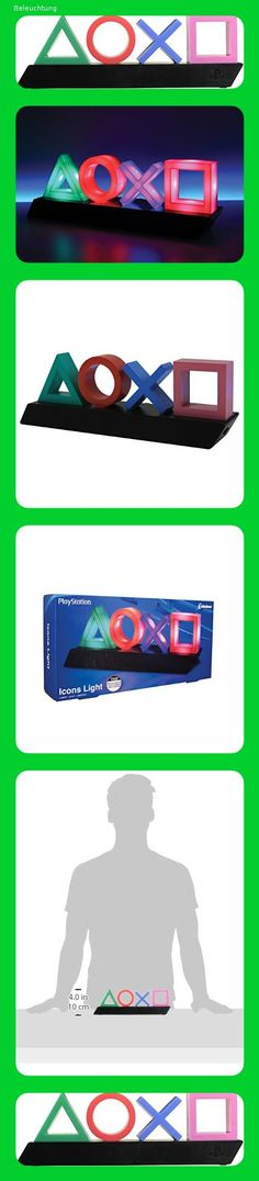 Playstation Symbol Lampe Licht Deko Nacht Leuchte Lampe mit Farbwechsel Funktion